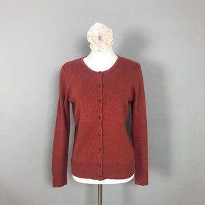 CROFT & BARROW Brick Red Cardigan (Medium)